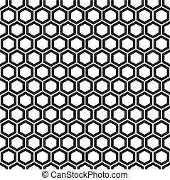 Vector illustration of seamless abstract geometric pattern with honeycombs