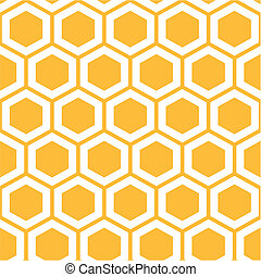 Honeycomb pattern - Vector illustration of seamless...