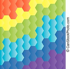 honeycomb rainbow