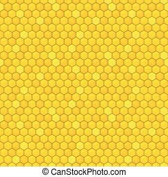 Honeycomb seamless pattern - Seamless pattern of the honey...