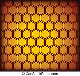 Honeycomb seamless pattern. Vector illustration