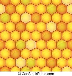 Honeycomb toned pattern