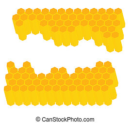 Honeycomb vector background for poster