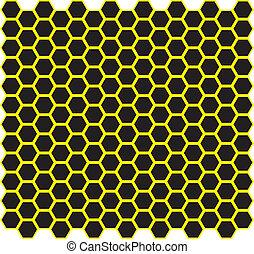 Honeycomb vector design on black - Honeycomb vector design -...