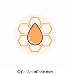 Honeycomb vector flat icon