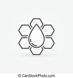 Honeycomb vector outline icon