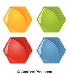Honeycombs symbols - four colors