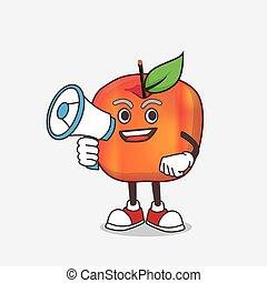 honeycrisp, 特徴, マスコット, メガホン, アップル, 保有物, 漫画