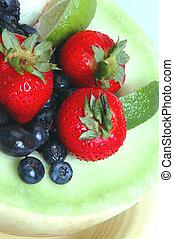 honeydew, con, frutta