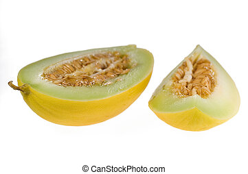 Piece of yellow melon