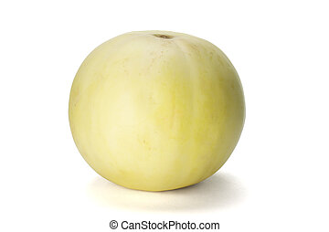 Fresh honeydew melon on white background