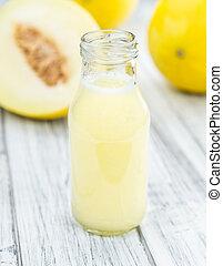 Honeydew Melon smoothie (selective focus) - Honeydew Melon...