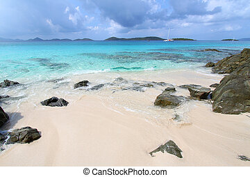 Honeymoon Beach - St John (USVI) - A calm day at Honeymoon...