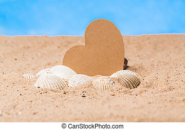 objects in the sand as a symbol of vacation and recreation