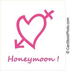honeymoon symbol - unique symbol of honeymoon moment