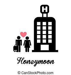 honeymoon design, vector illustration eps10 graphic