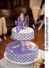 honeymooners, secional, bolo casamento, dia, feliz