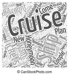 Honeymooning on a Cruise Ship Word Cloud Concept