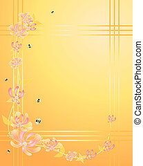 an illustration of a honeysuckle flower border ideal for gift tags or stationery
