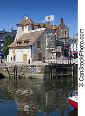 honfleur, calvados, normandia, rév, franciaország