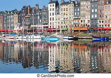 Honfleur harbour in the morning