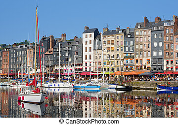 Honfleur yachts at the harbour