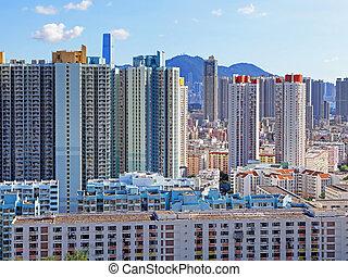 hong, アパート, ハウジング, kong, 公衆, ブロック