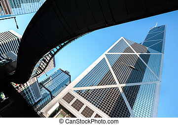 hong, タワー, 陶磁器, 銀行, kong
