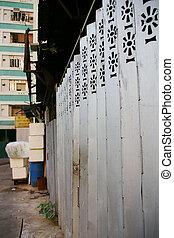 hong, 財産, ハウジング, kong, 鉄のゲート, 公衆