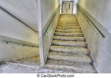 hong, 財産, ハウジング, kong, 階段, 公衆