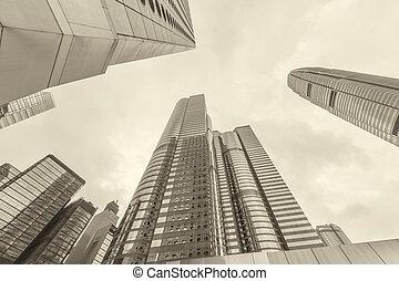 hong, 超高層ビル, kong