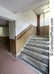 hong, 階段, ハウジング 財産, kong