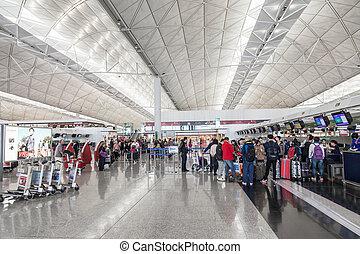 hong, aeroporto, kong