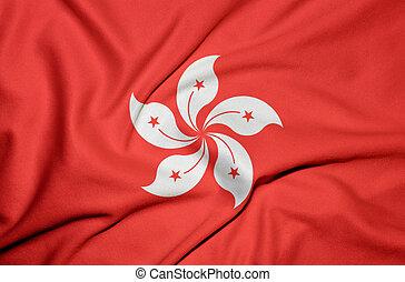 hong, bandeira, kong