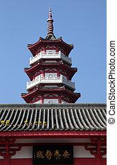 hong, boeddhist, kong, gebieden, nieuw, tempel