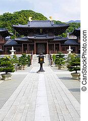 hong, chi, lin, boeddhist, kong, tempel