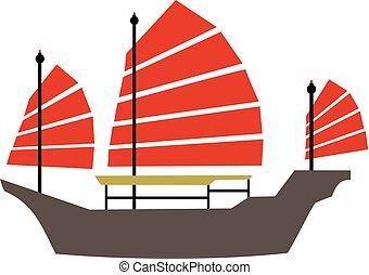 hong, diseño, barco, kong