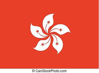 hong, drapeau, kong