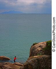 hong, eiland, chau, kong, cheung, landschap