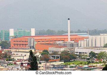 hong, fábricas, moderno, kong
