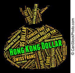 hong, forex, dólar, kong, indica, comercio, moneda