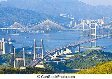 hong, kong, мосты