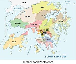 Hong Kong Political Map Hong Kong And Vicinity Political - China political map in english