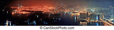 Hong Kong aerial night