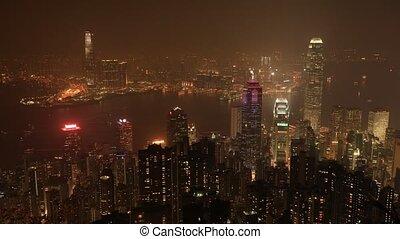 Hong Kong aerial time lapse