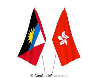 Hong Kong and Antigua and Barbuda flags - National fabric ...