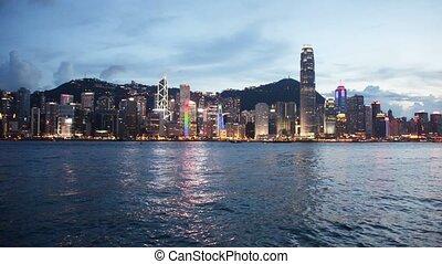 Hong Kong - AUGUST 1, 2014: Hong Kong bay on August 1 in Hong Kong, China.