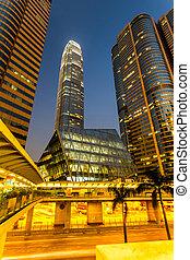 Hong Kong bussines center.