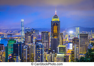 Hong Kong China City Skyline - Hong Kong, China city skyline...
