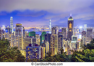 Hong Kong, China Skyline